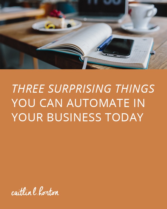 Three Surprising Things You Can Automate in Your Business Today Horton Brand Strategy